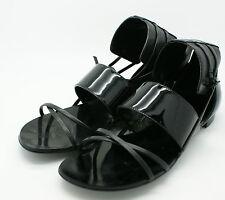 Report Signature Women Jones Cuff Leather Flat Sandal Gladiator Shoe Black 6 NIB