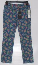 Guess Girls Daredevil Skinny Leg Floral Denim Jeans Blue Fourteen (14) NWT
