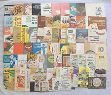 {VINTAGE RECIPE LOT} Cook Book BOOKLETS Brochures PAMPHLETS Advertisement FLYERS
