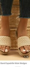 Shein Woven Band Espadrille Mule Wedges Size 6.5 Brand New In Box