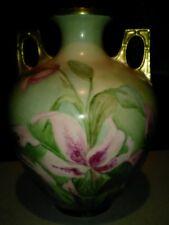 Royal Austria Orchid double handle vase c1900