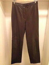 Siena Studio Genuine Soft Leather Brown Pants Size 8