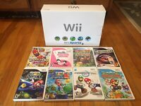 Nintendo Wii Console CIB In Box White Gamecube System Bundle Lot Mario TESTED