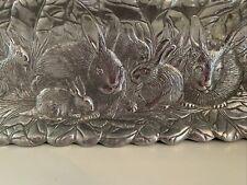 "Vtg. Arthur Court 1990 18"" Bunny Rabbit Rectangular Tray"