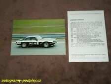 D. SEARS / E. CALDERARI - Jaguar XJS HE, 1984 Brno CZE Karte/card 10x15 cm, RAR