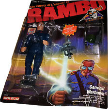 RAMBO S.A.V.A.G.E. The Enemy of Rambo General Warhawk New! Mint On Sealed Card!!
