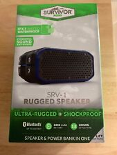 Rechargeable SURVIVOR Waterproof Wireless Bluetooth Audio Speaker NIB