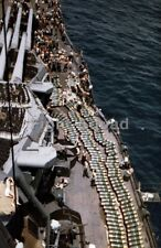 WW2 Picture Photo Marshall Islands 1944 USS New Mexico 14-inch projectiles 2868