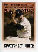 2012 Topps #BB-17 CATFISH HUNTER New York Yankees BLOCKBUSTERS INSERT CARD