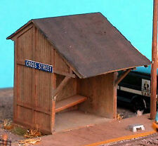PASSENGER SHELTER HO Model Railroad Structure Unpainted Laser Wood Kit NS40001