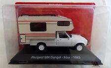 Miniature Véhicule IXO CAMPING CAR 1/43e Peugeot 504 DANGEL AZUR 1983