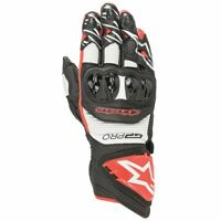 Alpinestars GP PRO R3 Black White Red Glove Leather Motorcycle Race Gloves