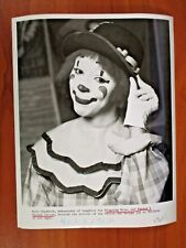 Vtg Glossy Press Photo Ringling Bros, Barnum & Bailey Circus Clown Ruth Chaddock