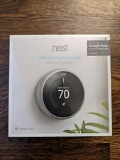 Nest 3rd Generation Learning Stainless Steel Programmable Thermostat,Brand New