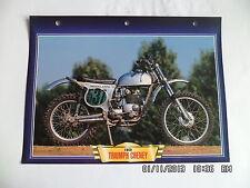 CARTE FICHE MOTO TRIUMPH CHENEY 1969