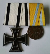 Medal Group Iron Cross 2nd Class / Fredrich August Medal Bronze.