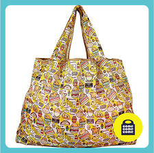 #013, [Fast Food Burger] Eco Friendly Foldable Recycle Shopping Tote Bag