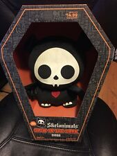 "Skelanimals Diego Glow In The Dark Plush Halloween New 10"" in coffin Bat doll"