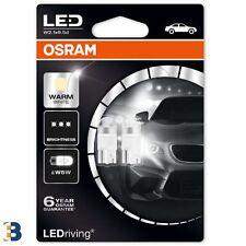 2x OSRAM W5W Premium LED 501 12V 1W Warm White Ampoules voiture 2850WW-02B 4000K