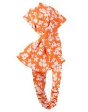 Gymboree Fairy Floral Orange & White Floral Bow Headband Infant Baby Girl NEW