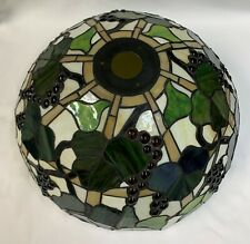 Stained Glass Lamp Shades With Grapes-3 Available