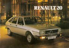 Renault 20 1980-81 UK Market Sales Brochure TS LS TL