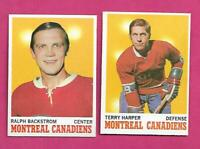 1970-71 TOPPS MONTREAL CANADIENS  NRMT-MT  CARD LOT  (INV# C7074)