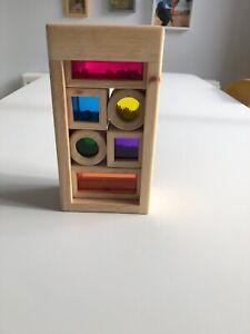 Wonderworld Rainbow Colours Sound Wooden Sensory Blocks Baby Toddler Toy