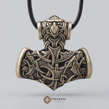 THOR'S HAMMER PENDANT MJOLNIR NECKLACE VIKING JEWELRY MEN WOMEN NORSE JEWELLERY