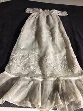ANTIQUE silk cotton dress  for FRENCH doll Jumeau Steiner Bru antique lace size