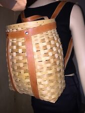 NWT LONGABERGER TourWithMe Large Collectable BACKPACK BASKET FreeProtector Lot:D