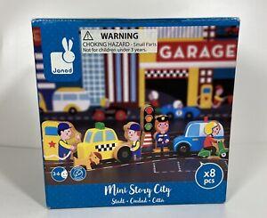 Janod Juratoys Mini Story City Wooden 8 Piece  Toy Set 3-6 years 2016 France