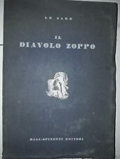 LE SAGE IL DIAVOLO ZOPPO MAGI-SPINETTI EDITORI ROMA 1945-EDIZIONE SPECIALE