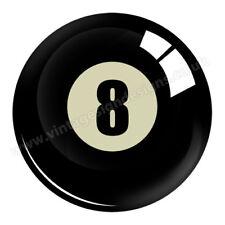 "Número 8 Bola de piscina digitalmente recorte Pegatina de vinilo. diámetro de 3""."