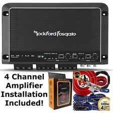 Rockford Fosgate R400-4D 400 Watts 4-Channel Amplifier + 4 Channel Amp Kit