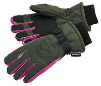 Pinewood Ladies Hunting gloves in Moss Green & Realtree AP Pink Camo,
