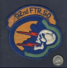 Original 92nd FS F-101 VOODOO USAF TFS FIS Fighter Squadron Patch