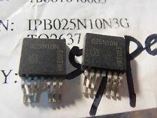 2PCS IPB025N10N3G 180A 100V 2.5mohm OptiMOS 3 Power NPN 025N10N D2PAK-7 INFINEON
