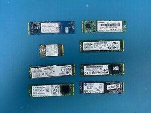 Mixed Brand lot M.2 128GB 256GB 512GB 1024GB NVMe and Sata SSD