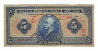 Brasilien 5 Mil Reis 1942 P029c / R 100c - Brazil Banknote