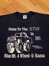 """Vintage Monster Truck t shirt 80s 4x4 Hot Rod sz S/M Jerzees """"Free Shipping"""""""