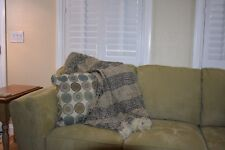 "50"" x 60"" Coffee Brown Eternal Chenille Hand Woven Throw Blanket"