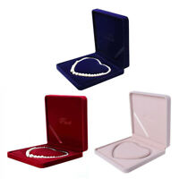 Jewelry Velvet Box Necklace Gift Display Case Wedding Jewelry Storage Box Holder