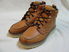 Big Mac Leather Work Boots regular toe size 8 MW oil resistant sole