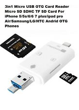 Lightning iFlash USB SDHC Micro SD OTG Card Reader for Android iPhone 5 6 7 Plus