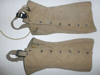 Vintage 1943 WW2 WWII Military Canvas Boot Gaiters Covers Gregory & Read Co Sz 4