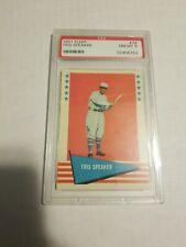 1961 Fleer Baseball #79 Tris Speaker PSA 8 NM-MT Old Label