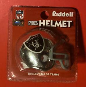 CHROME OAKLAND RAIDERS RIDDELL POCKET PRO MIni Helmet Vtg NFL Super Bowl XVIII