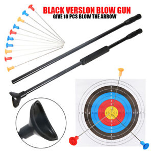 Blow Pipe Gun And Junction Tube Metal Needles 10Pcs For Grip Hunting Darts AU~