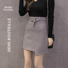 Faddish Women Faux Leather Skirt High Waist Bodycon A Line Mini Dress Waistband